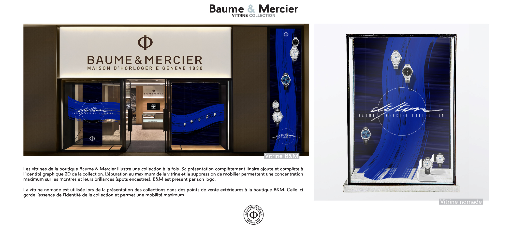 BAUME & MERCIER, New B&M Collection.