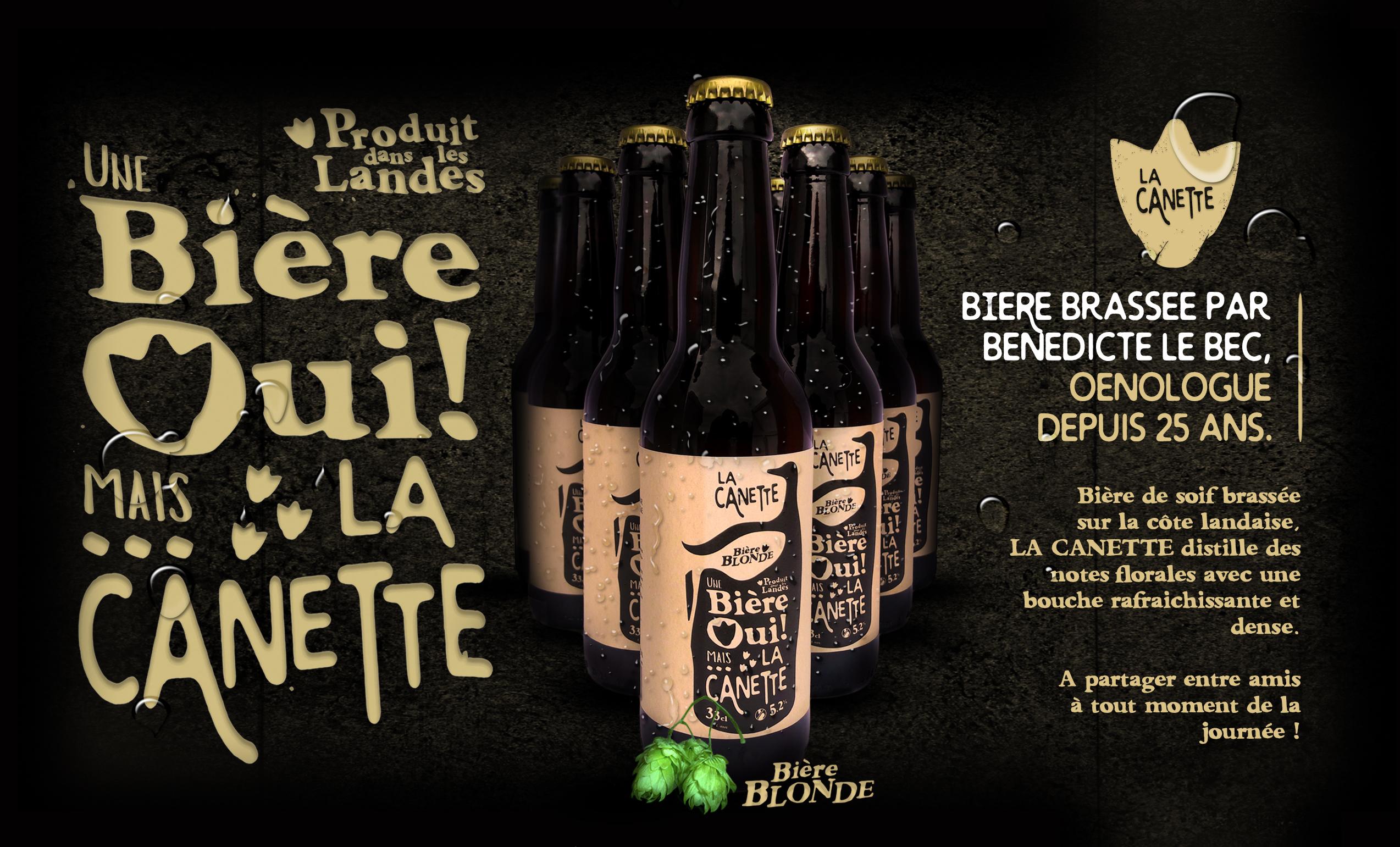 LA CANETTE, bière artisanale.